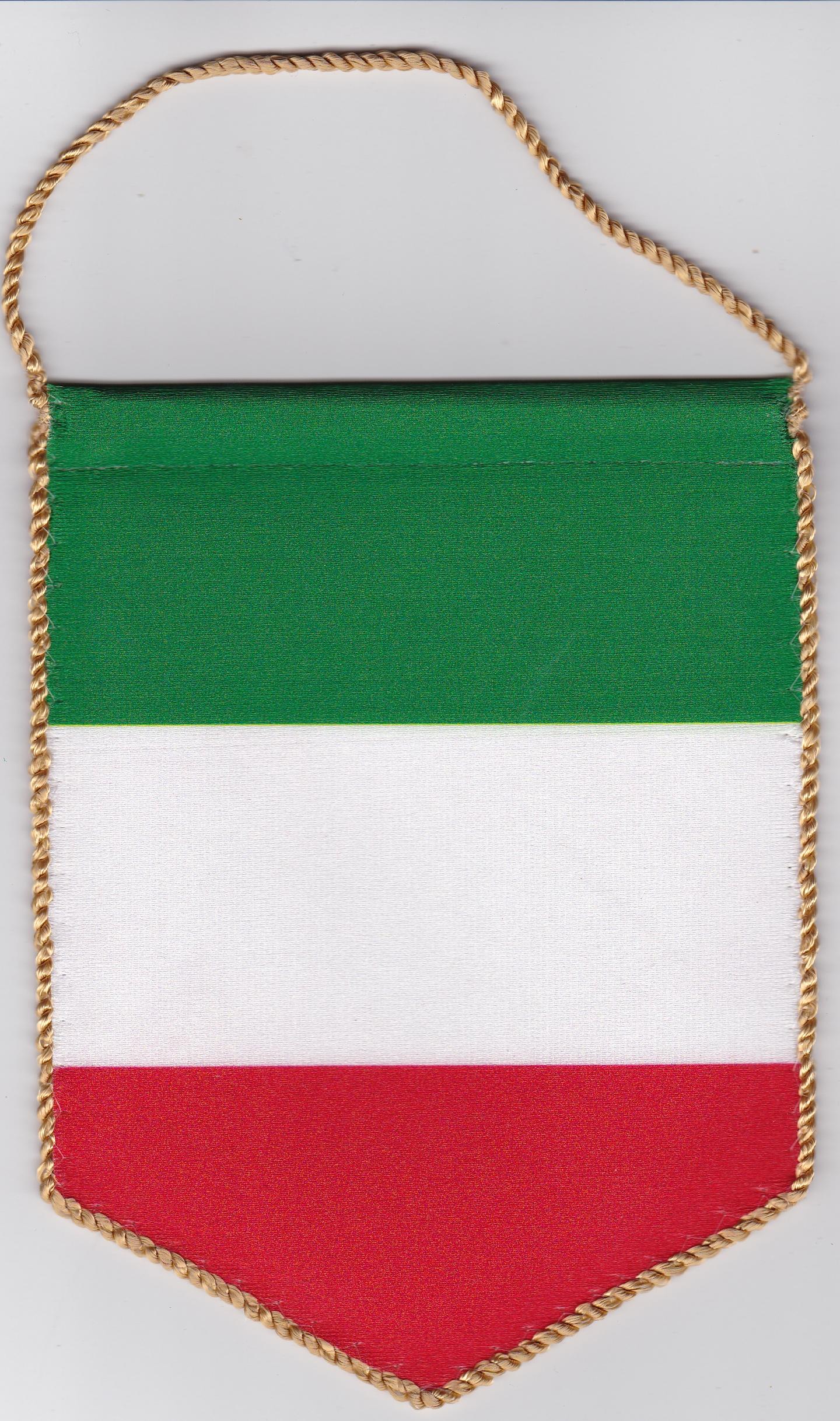 5 szöglető olasz zászló visszapillantó tükörre