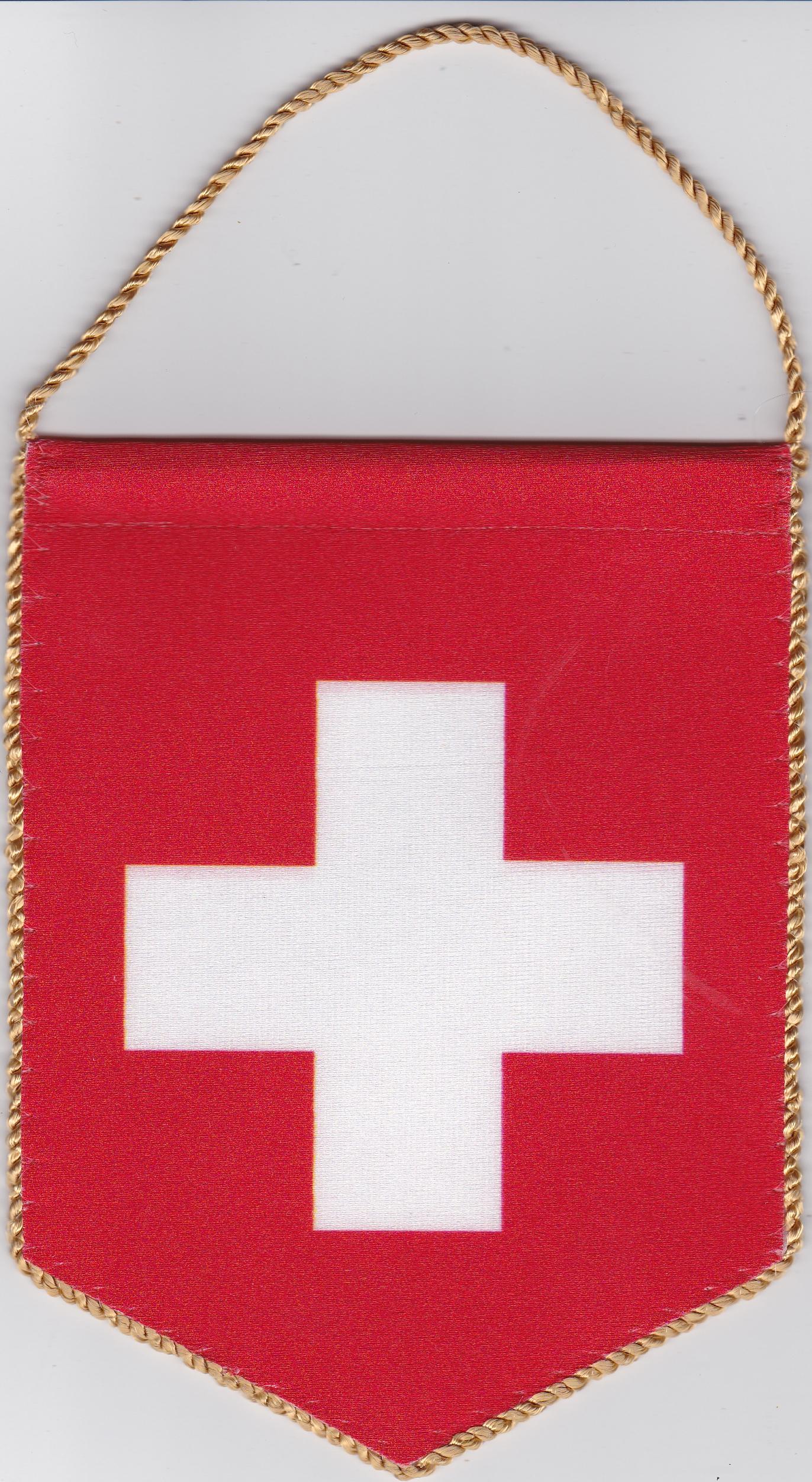 5 szöglető svájci zászló visszapillantó tükörre