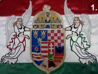 Hímzett angyalos zászló 1.