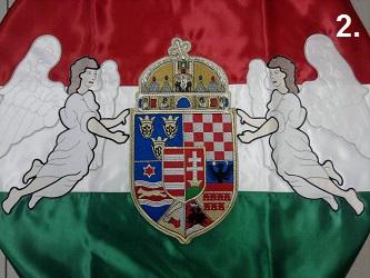Hímzett angyalos zászló 2.
