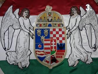 Hímzett angyalos zászló 3.