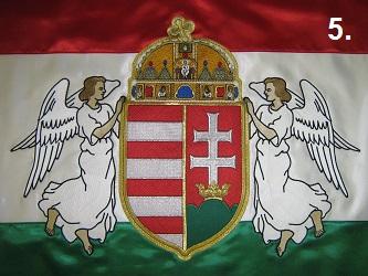 Hímzett angyalos zászló 5.